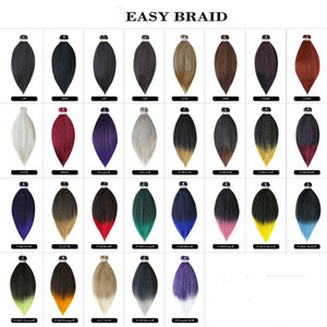 20 26Inch Pre-stretched Professional Ombre Braiding Hair Perm Yaki Jumbo Braids Kanekalon Synthetic Hair Hot Water Easy Braid