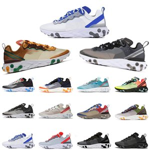 Wholesale 2020 Element React Mens Trainers UNDERCOVER X Orange Peel Tour Yellow Royal Tint Moss reacts vintage Chaussures Running Shoes Sneakers