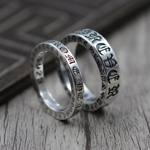 Wholesale 925 Sterling Silver Jewelry Personality Forever Couple Refers Ring Thai Silver Retro Unique Ring K5585