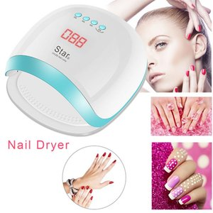 Wholesale Manicure W LED Light Nail Dryer Induction Phototherapy Nail Polish Glue Lamp LCD Monitor All Gel Finger Art Tools