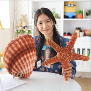Furry Toys Wholesale Creative Marine Life Conch Doll Starfish Pillow Shell Car-mounted Two-in-one Air Conditioning Quilt