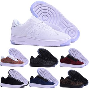 Wholesale 2019 forces Men Women Low Cut one shoes White Black Dunk Skateboarding Shoes Classic AF fly Trainers high knit air Sneakers