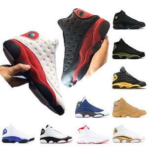 High quality 13 13s mens basketball shoes Bred Chicago Black cat Olive green Wheat Hyper royal mens trainers designer shoes size 7-13
