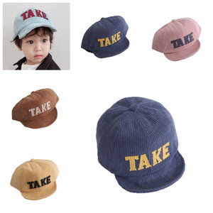 Wholesale Cotton Adjustable Children Sun Hats Baby Boy Hat Letter Kids Baseball Cap Girls Peaked Caps Autumn Winter T