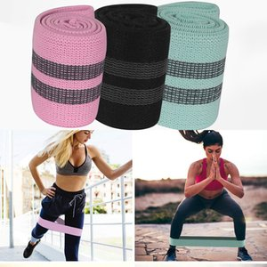 Wholesale Free DHL Cotton Yoga Resistance Band Bodybuilding Fitness Exercise High Tension Muscle Gym For Leg Ankle Weight Training Pilates Bands M429F