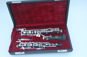 Wholesale SUZUKI New OBOE C Key Bakelite Tube Semi-automatic Style Oboe Musical Instrument Cupronickel Silver Plated Key with Case Free Shipping