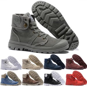 Wholesale Newest Palladium Martens Boots for Women Men Classic Triple White Black Winter Boot womens Trainers mens Army Green Ankle Booties size