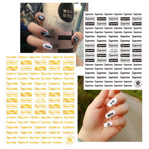 10pcs Korean style Nail Art Decorations 3D Adhesive Nail Art Stickers Gold Sports Wind English Letters Nail Decal for Girls