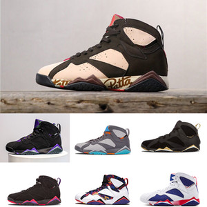 7 Basketball Shoes Men 7s VII Patta Ray Allen Purple UNC Olympic Panton Pure Money Nothing Raptor N7 Zapatos Trainer Sport Shoe Sneaker