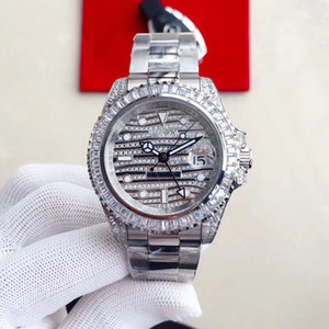 Wholesale 2019 Best Quality designer watches Full Big Diamond Watch Iced Out Watch ETA Automatic gmt watch Gold Men Silver Waterproof L Steel
