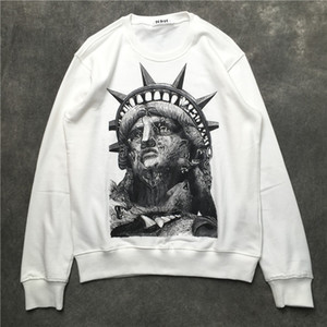 Wholesale liberty statues for sale - Group buy 19ss France Italy New Hot Fashion paris Statue Liberty print pullover Cotton men women Mens Hoodies Sweatshirts