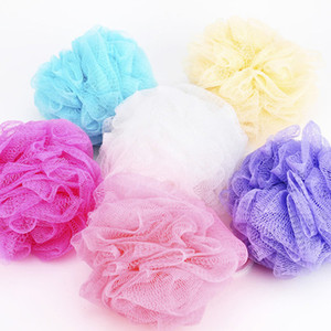 Wholesale 20g Bath Shower Sponge Pouf Loofahs Nylon Mesh Brush Shower Ball Spa Massage Shower Scrubber Balls