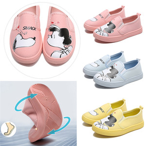 Toddler Canvas Shoes Baby Girls Flat Shoes Cartoon Characters Girls Print Leather Baby Girls Graffiti Casual Shoes on Sale