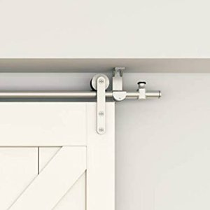 Brushed Stainless Steel Top Ceiling Mount Wood Sliding Barn Door Hardware Pantry Door Rolling Track Set Kit on Sale