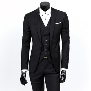Wholesale Fashion Mens Designer Suits Set Best Men and Groom Wedding Three Piece Suit Business Professional Dress
