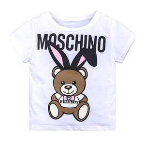 Wholesale 2019 Fashion kids polo shirt children short sleeves t shirt boys tops children designer clothes girls baby girl designer clothes