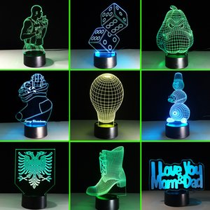Wholesale 2018 New Pattern Bulb Second Gram Force Vision Lamp Remote Control Touch Colorful d Lamp Led Lamp Small Night light