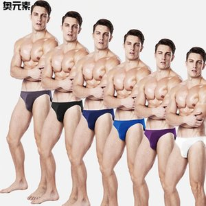 Wholesale New Thin Model Men Sexy Underwear Low-waist Small Triangle Briefs Solid 6 Color High Quality 6pcs lot Man Underpants J190614
