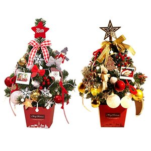 Wholesale Mini Christmas Tree Luxury Cm Tabletop Ornament Christmas Supplies With LED Illumination Lights