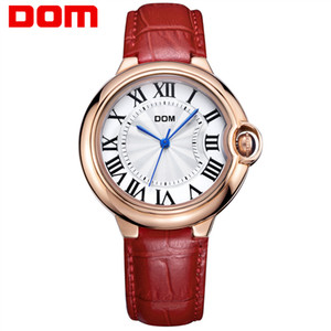 Wholesale watch women golden for sale - Group buy DOM Watch Women brand luxury Fashion Casual waterproof leather Lady golden quartz watches relojes womenes Dress Clock G
