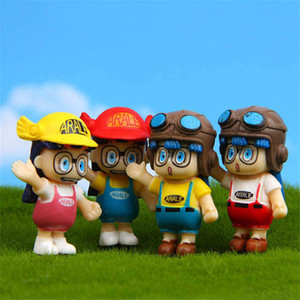 Wholesale 4pcs Arale Japanese Cartoon Model Miniature PVC Action Figures Anime Dr slump Mini Dolls Figurines Decoration Kids Toys for Children