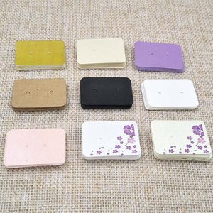 heap Garment Tags Pretty pearl paper stud earring packing card small jewelry earring display card tag 100pcs size 3.5*2.5cm custom cost e...