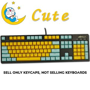 Wholesale 104 Keys Miami PBT Backlit OEM Profile Keycap CUTE Color Backlight Key caps ANSI Layout for Cherry MX Mechanical Keyboard