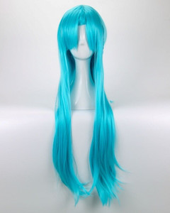 Wholesale 100 New High Quality Fashion Picture full lace wigs lt lt Sword Art Online Yuuki Asuna Wig Yuki Asuna Wig Braided Blue Cosplay Wig