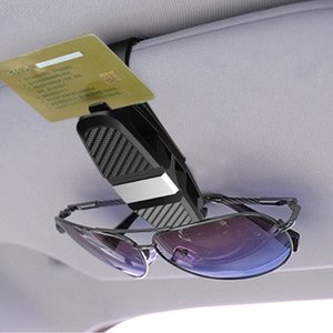 Wholesale Auto Portable Car Vehicle Hanger Sun Visor Sunglasses Eyeglasses Glasses Holder Ticket Card Clamp Clip Fastener Auto Accessories