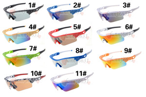 SUMMER Hot Sell Men cycling Sunglasses New Famous Design Sunglasses High Quality Sports Outdoor Discount Price 11Colors DROP SHIPPING
