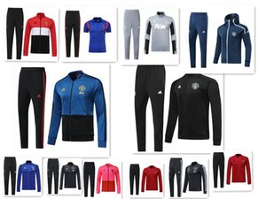 Wholesale 2019 manchester jacket tracksuit Survetement POGBA RASHFORD LUKAKU football training suit jacket UNITED Jogging chandal futbol