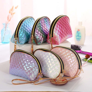 Wholesale Symphony Embroidery Big Makeup Bag Travel Women Make Up Bags Zipper PVC Letter Fashion Women Travel Organizer Cosmetic Bags