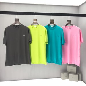 Wholesale France Paris ss luxury spring and summer latest high quality men s designer fashion round neck chest small letter T shirt tag top hot sale