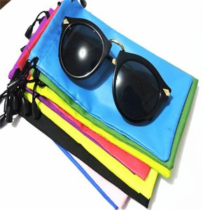 Wholesale Colorful Sunglasses Pouch Dust Waterproof Sunglass Bag Portable Drawstring Eyeglasses Cases Cellphone Watches Jewelry Carry Bag
