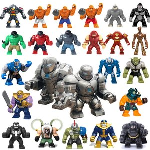 Wholesale 24 design Marvel The Avengers Superhero Big Building Blocks Iron Hulk Blocks Action Figures kids toys
