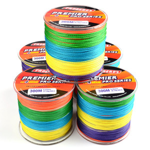 300Meters Multicolor Fishing Lines 4 Strands Braided Line Available 6LB-100LB PE Line