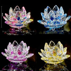 Wholesale Artificial Crystal Lotus Flower Colorful Wedding Party Decorations Supplies Handcrafted Gift Modern Home Decoration