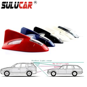 Wholesale SULUCAR LED Solar Automobile Flashing Shark Fin Warning Tail Lights SMD Controller Universal Aerial Antenna Tail Light V