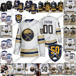 Customized Buffalo Sabres 2019 NEW White Golden Jersey Custom Any Number Name men women youth kid Navy Blue Black Eichel Dahlin Skinner 4XL on Sale