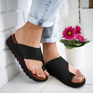 Wholesale SAGACE Summer Outdoor Women s Comfortable Platform Sandal Shoes Correct Thickened Street PU Leather Dating Slippers Sandals J20
