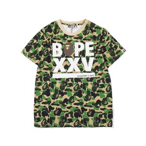 Wholesale 2019 Bape Mens Designer T Shirt Fashion Mens Short Sleeves A Bathing Ape High Quality Cotton T Shirt Tees 3 Colors
