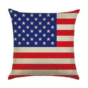 Wholesale World Map Flag Square Pillow Case Cotton Linen Throw Pillow Cover Waist Cushion Cover cm Pillowcase Home Decoration