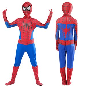 Halloween Cosplay Boys Kid Clothes Spiderman Transform Jumpsuit Matching Headgear Carnival Superhero Role Play Prom Gown Costume on Sale