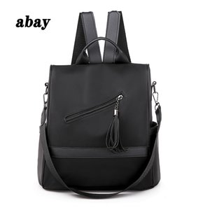 New anti-Oxford cloth ladies fashion backpack female tassel travel backpack female student bag book Mochilas