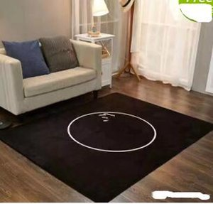 Wholesale White and black C brown L carpet 150x200cm wool material, with the famous patter cushion, suitable for family living room and bedroom suppli