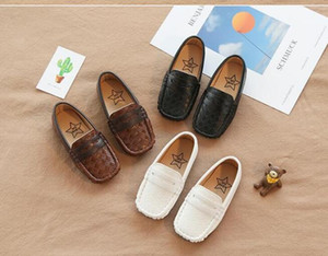 English Style of New Boys'Leather Shoes, Square Head Children's Bean Shoes, Korean Edition Boys' Leisure Shoes in Spring 2019 on Sale