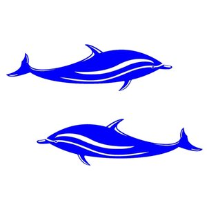 Wholesale 2 Pieces cm Waterproof Dolphins Stickers Vinyl Decals for Kayak Boat Car Bathroom Window Wall or Home Decor Marine Style