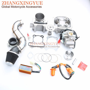 Wholesale 200cc NON EGR Cylinder Head Kit mm Big Bore Kit Cylinder A14 cam PD24J Carburetor for GY6 cc QMJ Scooter T