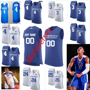 basquete kentucky venda por atacado-Custom Kentucky Wildcats Basquetebol Jersey Darius Miller Rajon Rondo Willie Cauley Stein Kenny Walker Dan Issel Jamaal Magloire UK Jersey
