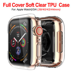 Wholesale Ultra Slim Transparent Clear Soft TPU Rubber Silicone Protective Cover Case For Apple Watch Series mm mm mm mm